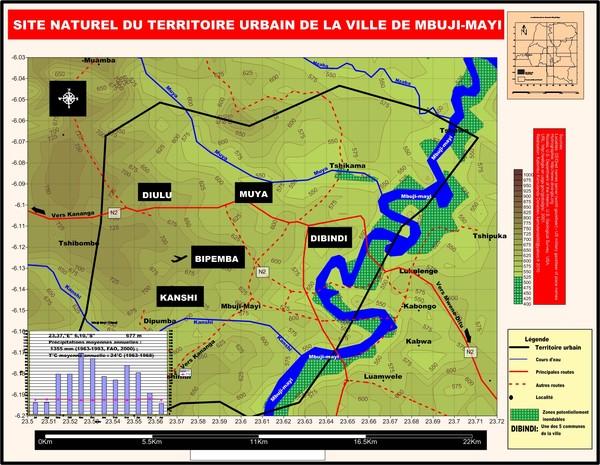 Site naturel de la ville de Mbuji-Mayi