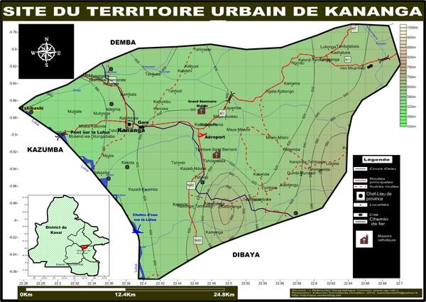 Site du territoire urbain de Kananga