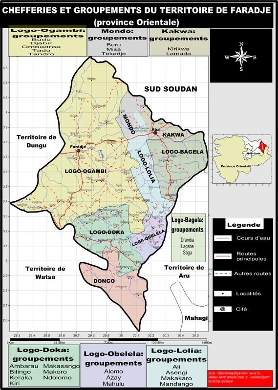 Le territoire de Faradje (province Orientale)