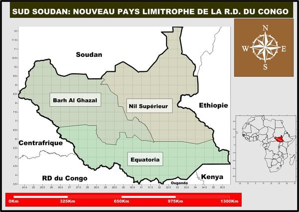 le Soudan du sud: nouveau pays limitrophe de la RDC