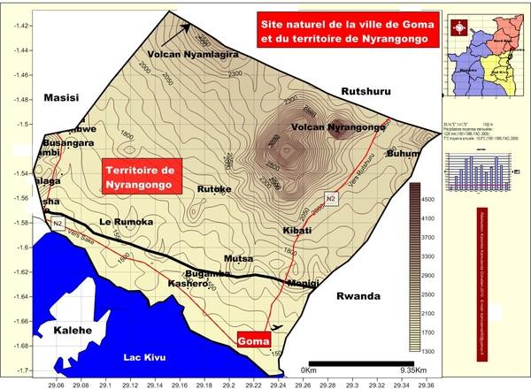 Site naturel de la ville de Goma et de Nyrangongo