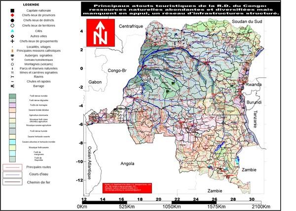 RDC:atouts touristiques,  infrastrucures insuffisantes