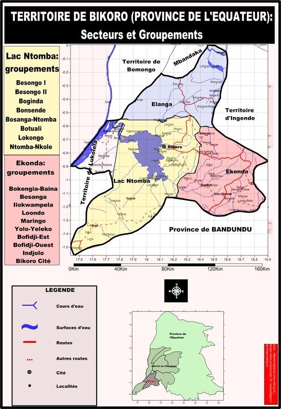 Le territoire de Bikoro (province de l'Equateur)